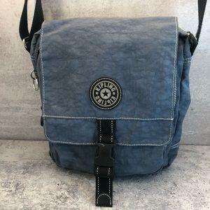 Kipling Lancelot Style Denim Blue Shoulder Bag